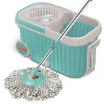 Amazon India : Spotzero by Milton Elite Spin Mop(Aqua Green, Two Refills) at Rs.989